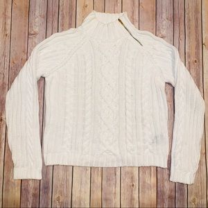Lauren Ralph Lauren womens white knit sweater XL